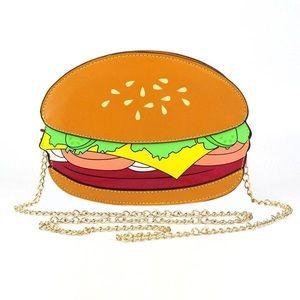 Hamburger Crossbody Bag Clutch Kawaii Purse BNWT